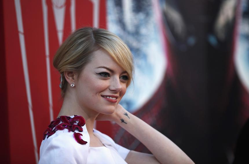 'The Favourite' star Emma Stone ditches the red, debuts new darker look
