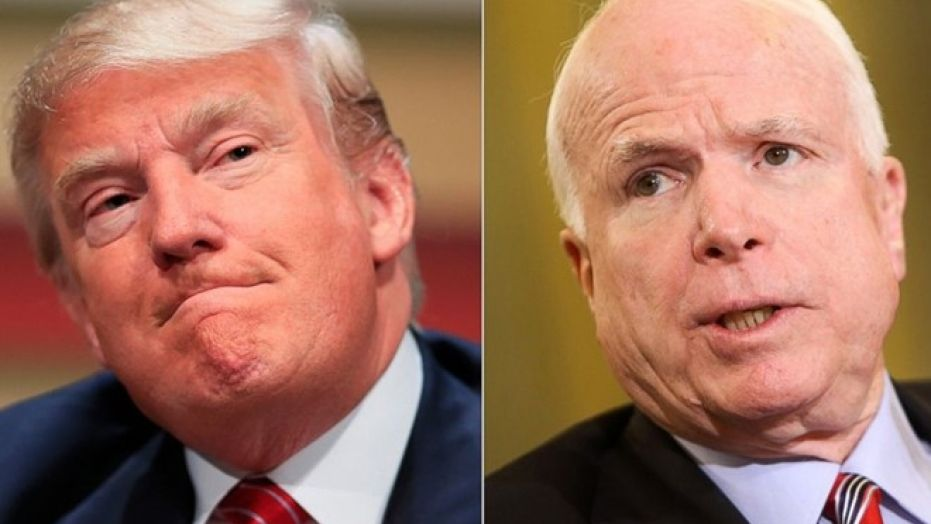 Trump grounds Boeing plane, but can't move on from John McCain