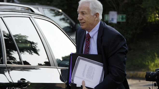 Jerry Sandusky to take part in pension hearing by video