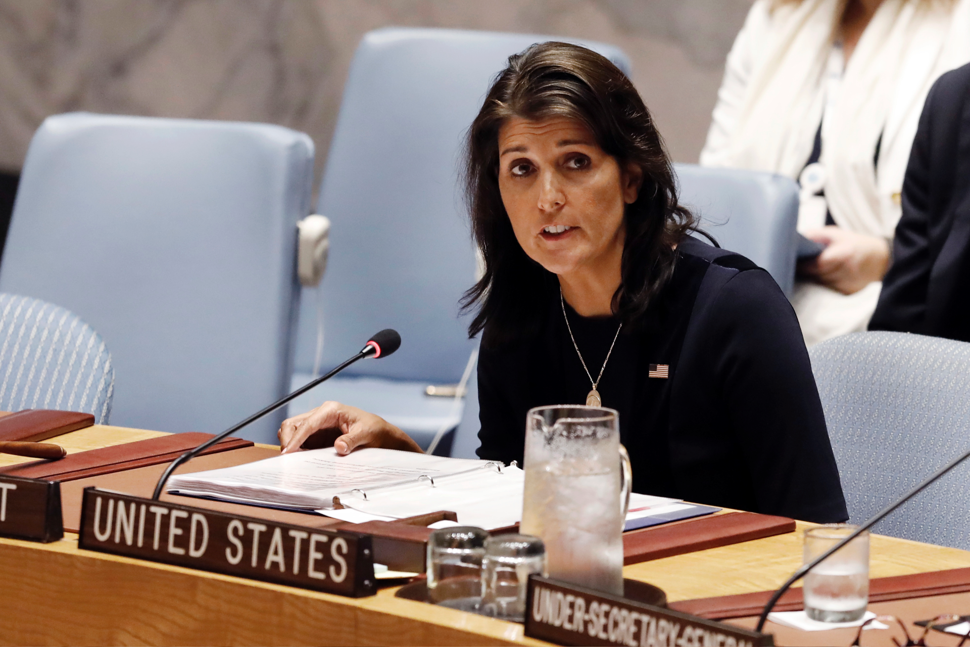 photo image Haley set for UN showdown over historic vote to condemn Hamas