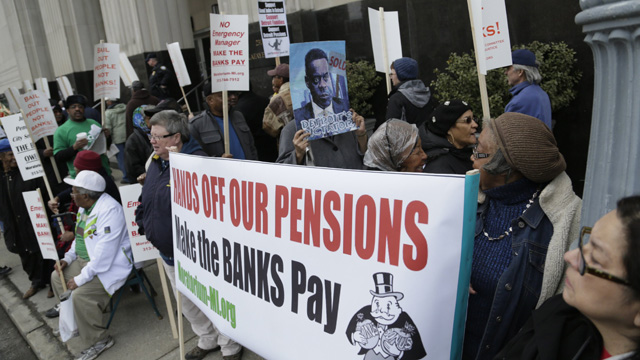 Detroit strikes two deals over pensions with police, firefighters, other former employees