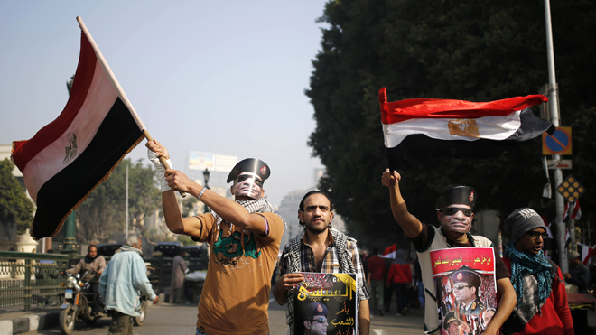 Amid Egypt's uprising anniversary, US condemns violence, pledges Middle East support