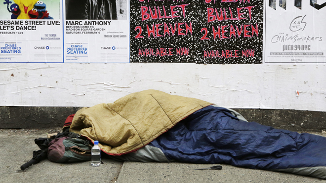 Westlake Legal Group Homeless-Sue-NYC 'The Five' hits NYC Mayor De Blasio for 'failed policies' amid city's homeless crisis Victor Garcia fox-news/topic/homeless-crisis fox-news/shows/the-five fox-news/media/fox-news-flash fox-news/media fox news fnc/media fnc dca229f7-ddb3-5570-b97a-2ffcd0c81fb7 article