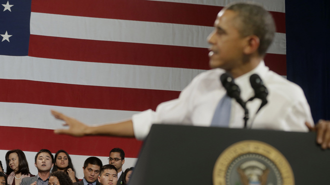 Obama interrupted: President goes unscripted on immigration in exchange with protester