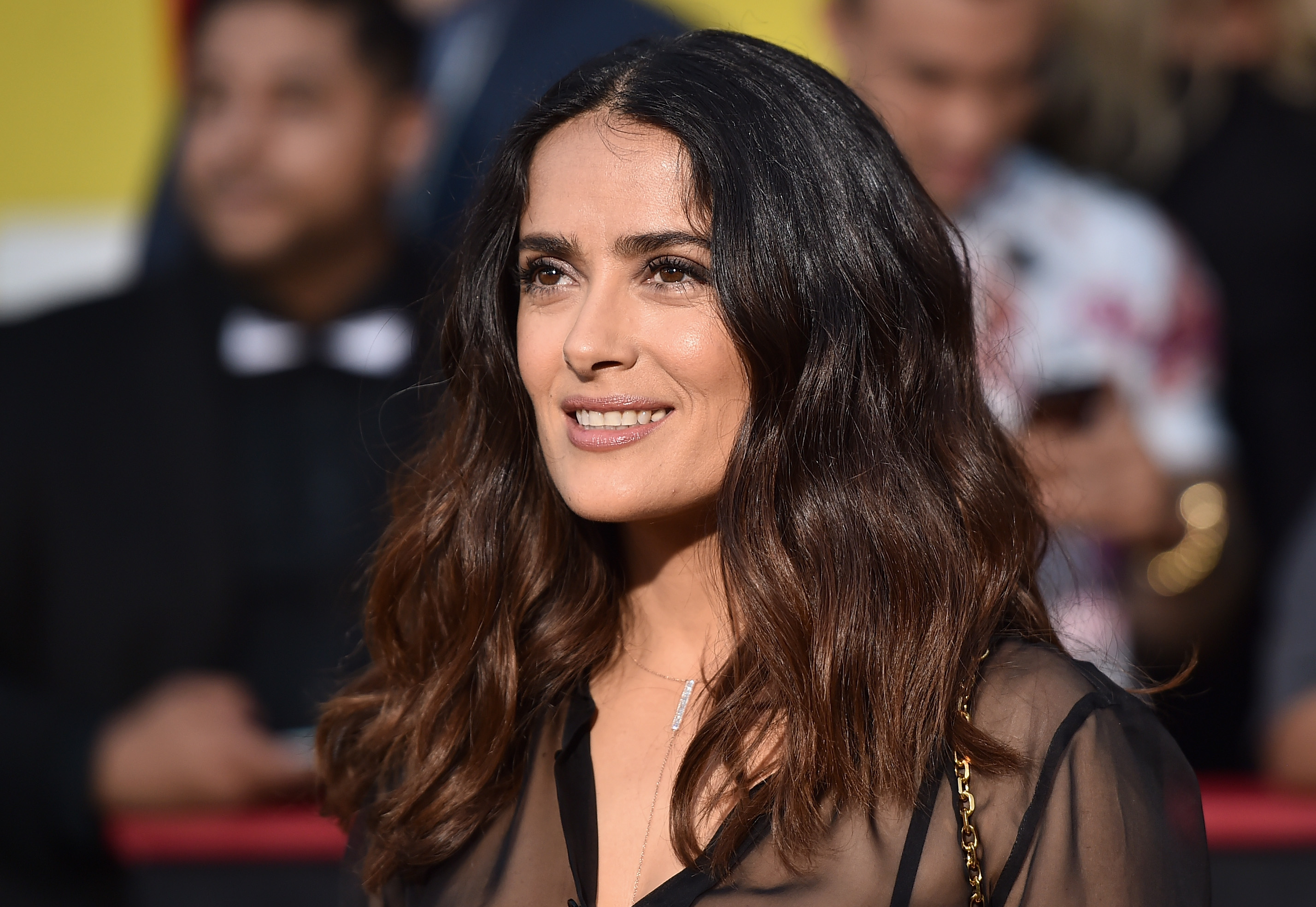 Salma Hayek says she's 'proud' of her gray hair