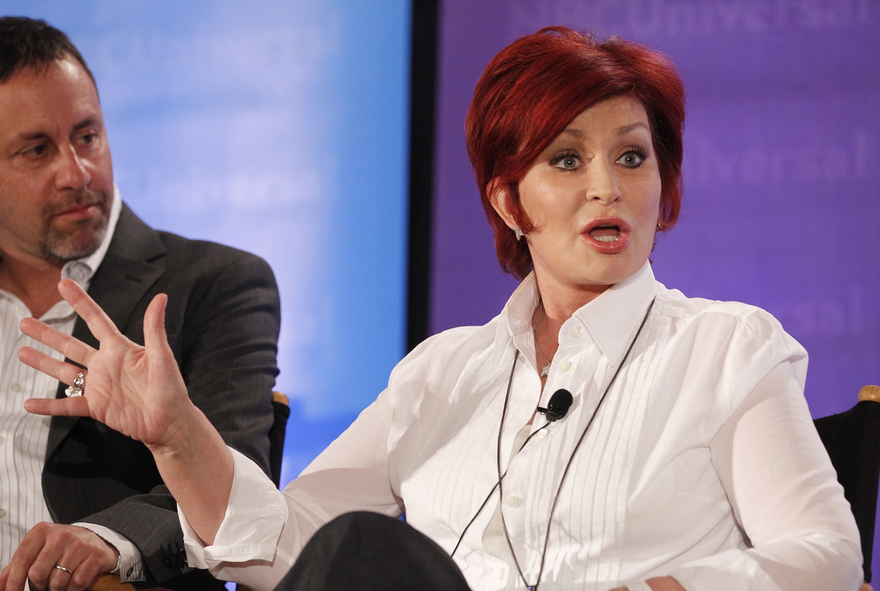 Sharon Osbourne's tooth falls out on live TV