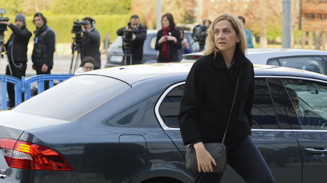 Embattled Princess Cristina of Spain, husband back in court for tax fraud trial