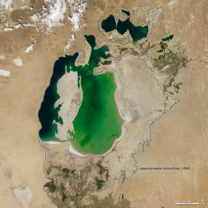 NASA images reveal shocking scale of Aral Sea disaster