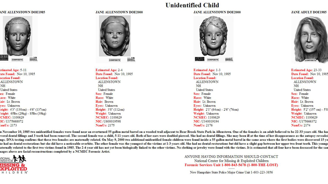 Authorities hope new 3D images will help ID victims in New Hampshire cold case