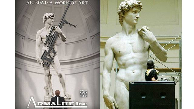 Italian government up in arms over use of Michelangelo's 'David' in gun ad