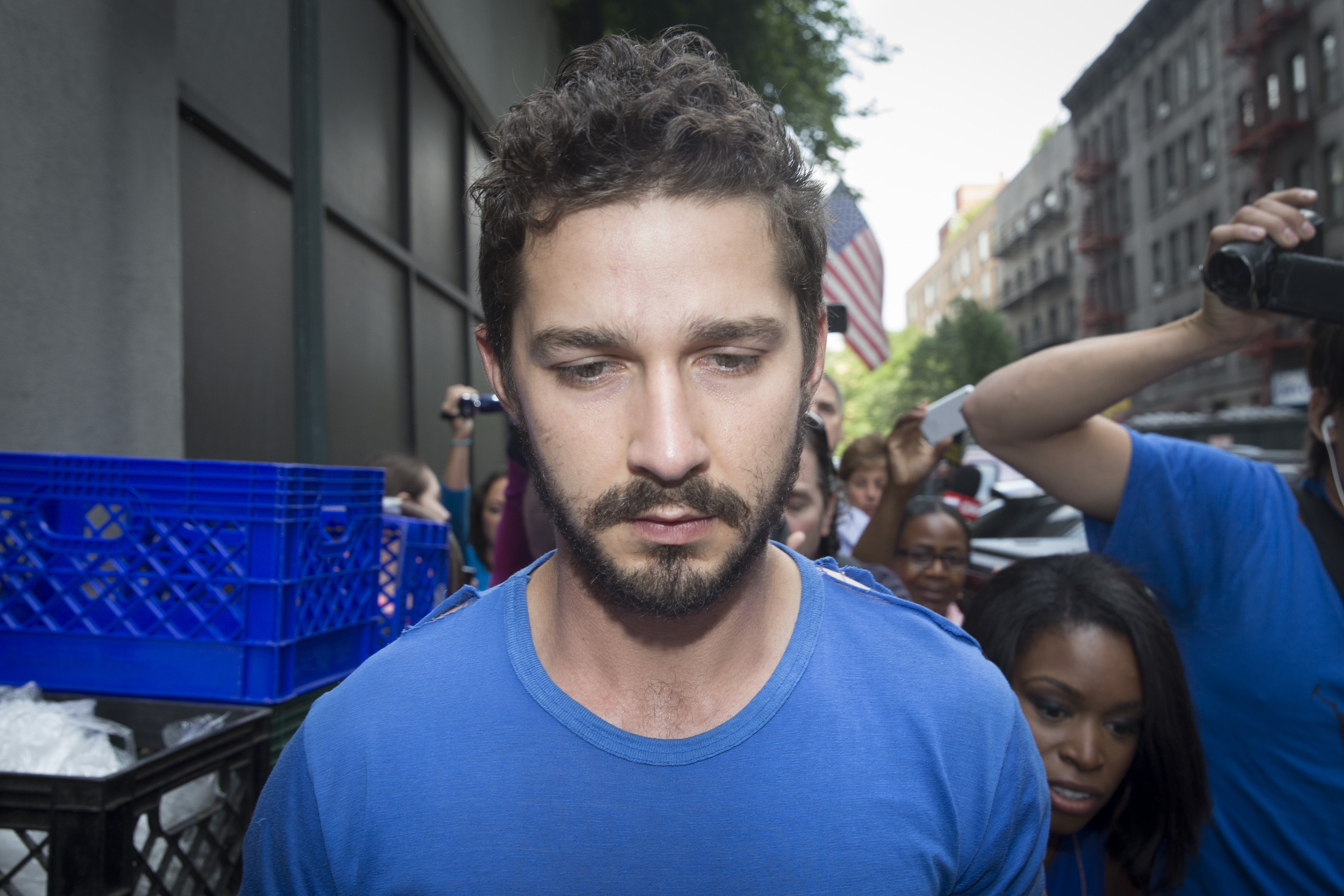 Shia LaBeouf 'receiving treatment for alcohol addiction' but not in rehab, rep says