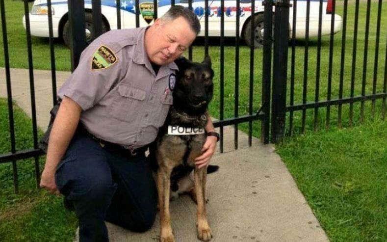 Retired Ohio police officer gets to buy K-9 partner for $1
