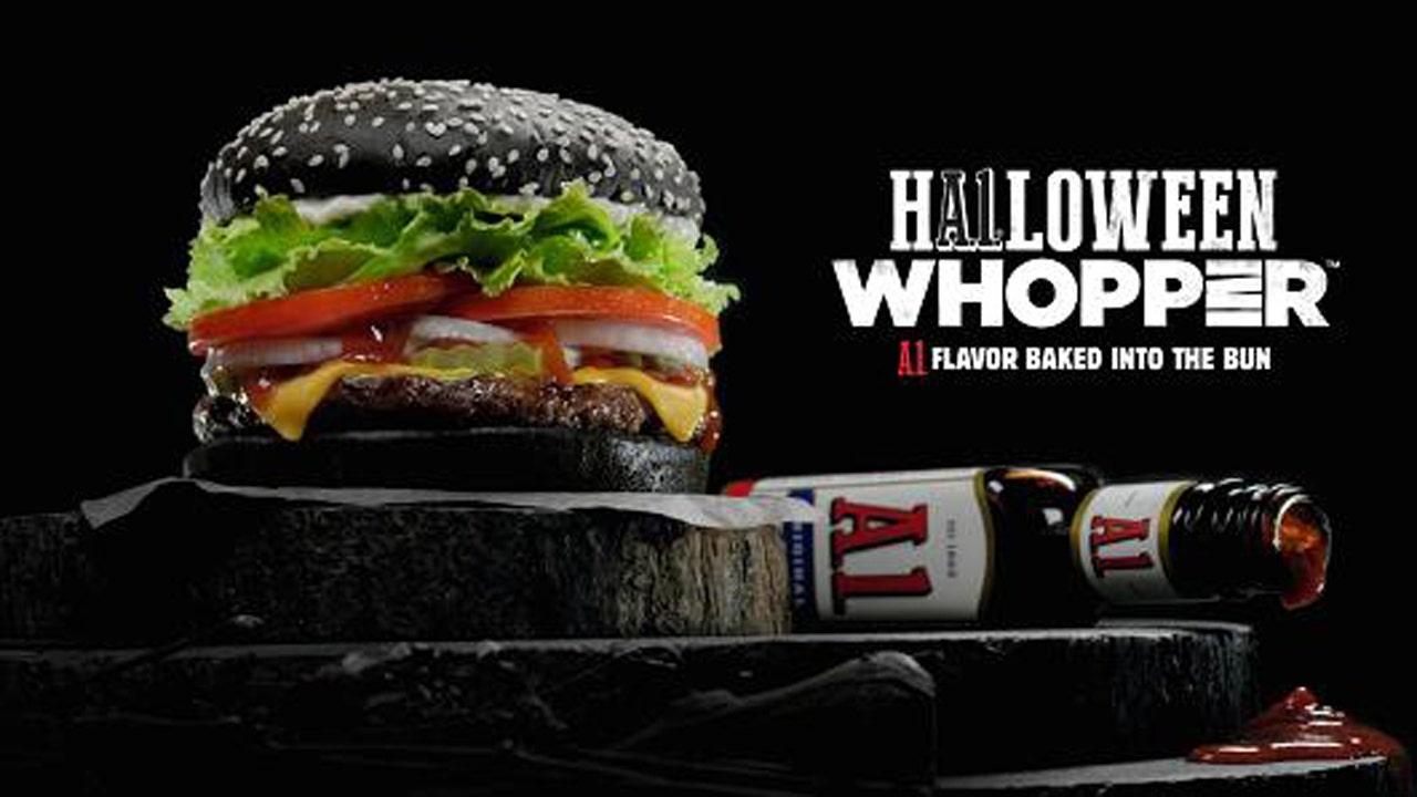 Burger King rolls out black burger for Halloween