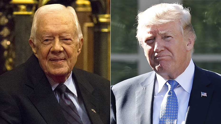 Westlake Legal Group carter-trump-1022 Jimmy Carter says investigation would show Trump didn't win 2016 election: He's in office 'because Russians interfered' fox-news/person/donald-trump fox-news/entertainment/media fox news fnc/politics fnc David Montanaro article 961940fc-2c6f-5f62-b16e-9fa40d34b2c3