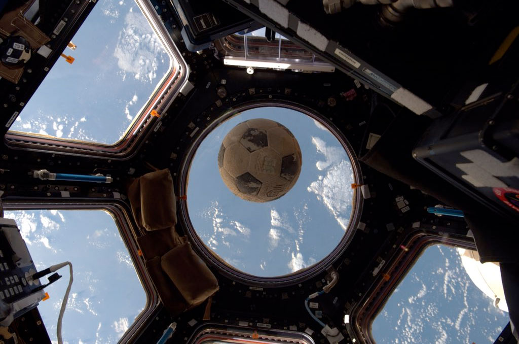 Soccer ball recovered from Shuttle Challenger now on Space Station
