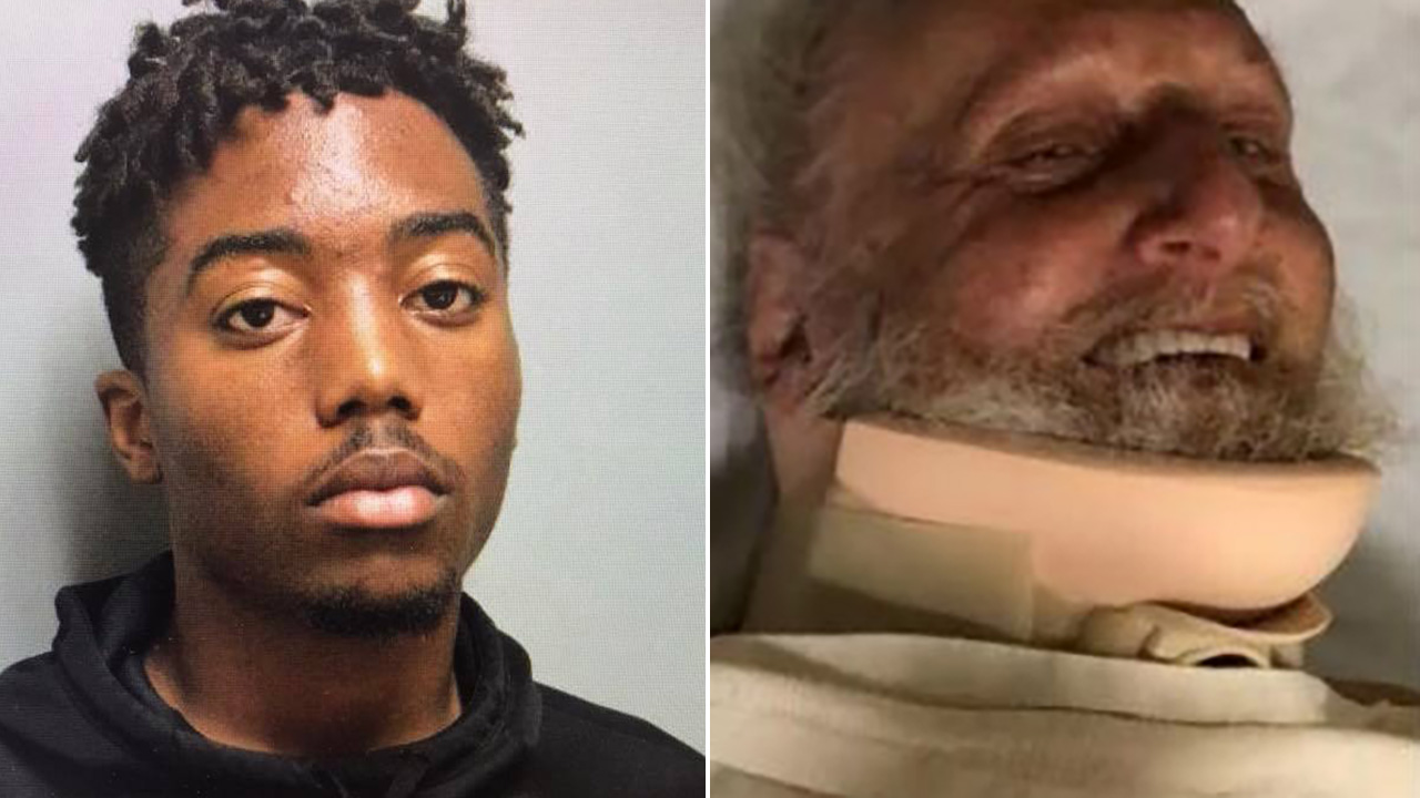 Police chief's son, 18, charged with beating elderly Sikh man, smiles, flips bird in court: reports
