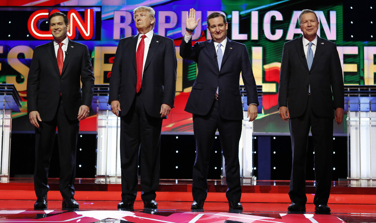 GOP debate: Trump, Rubio, Cruz and Kasich get out of the mud and focus on substance