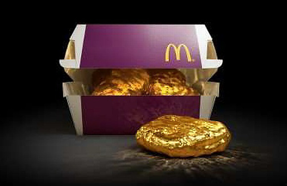McDonald's is giving away a golden Chicken McNugget