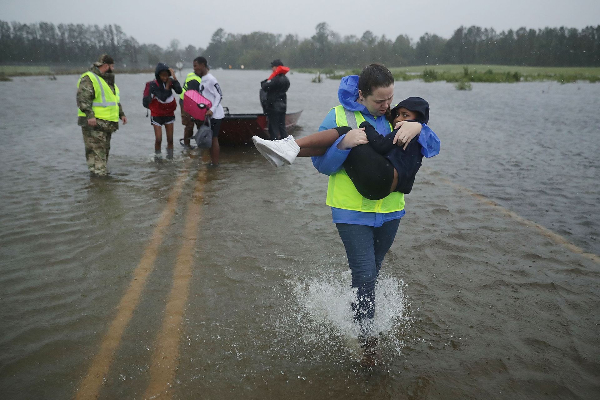 Pictures: Hurricane Florence slams into Carolinas