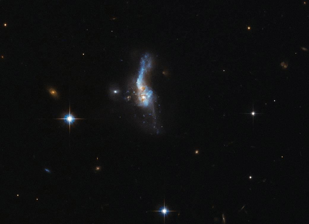 Galaxies collide in stunning picture