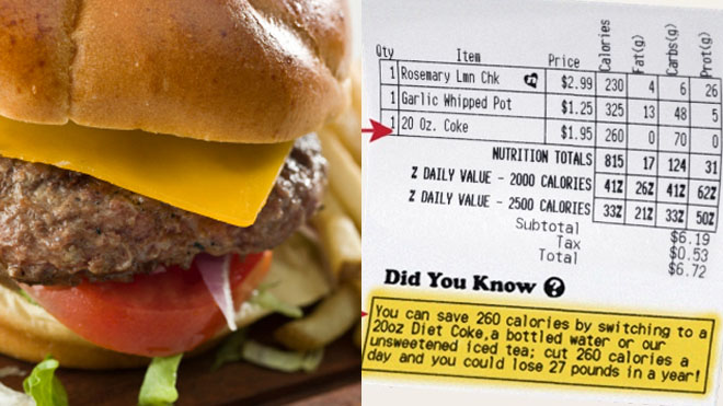 Restaurants using receipts to shame diners into eating healthier