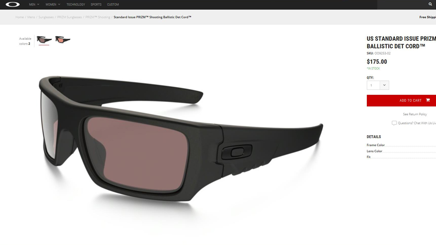 New Oakley shades for warriors