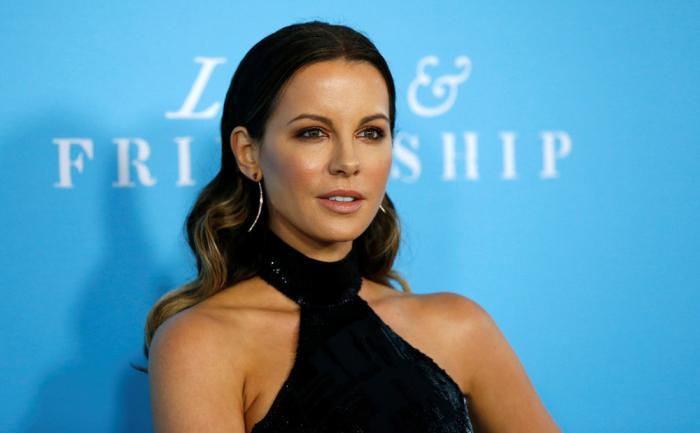 Kate Beckinsale poses in 'knickers and tights' in 'Jolt' dressing room pic