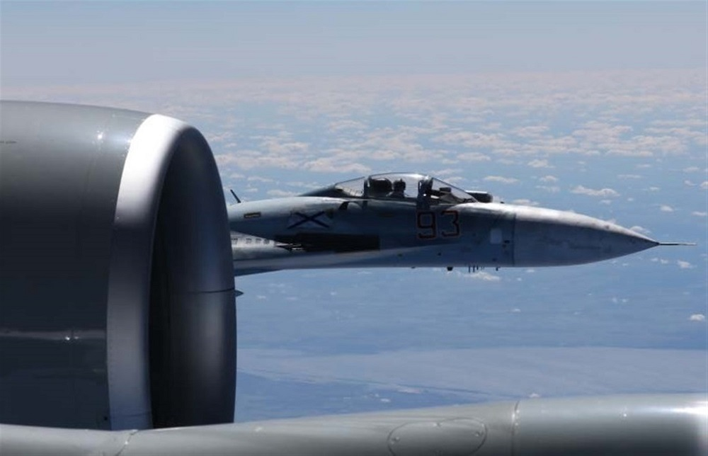 Russian jet buzzes US recon jet: Pictures released of 'unsafe' incident