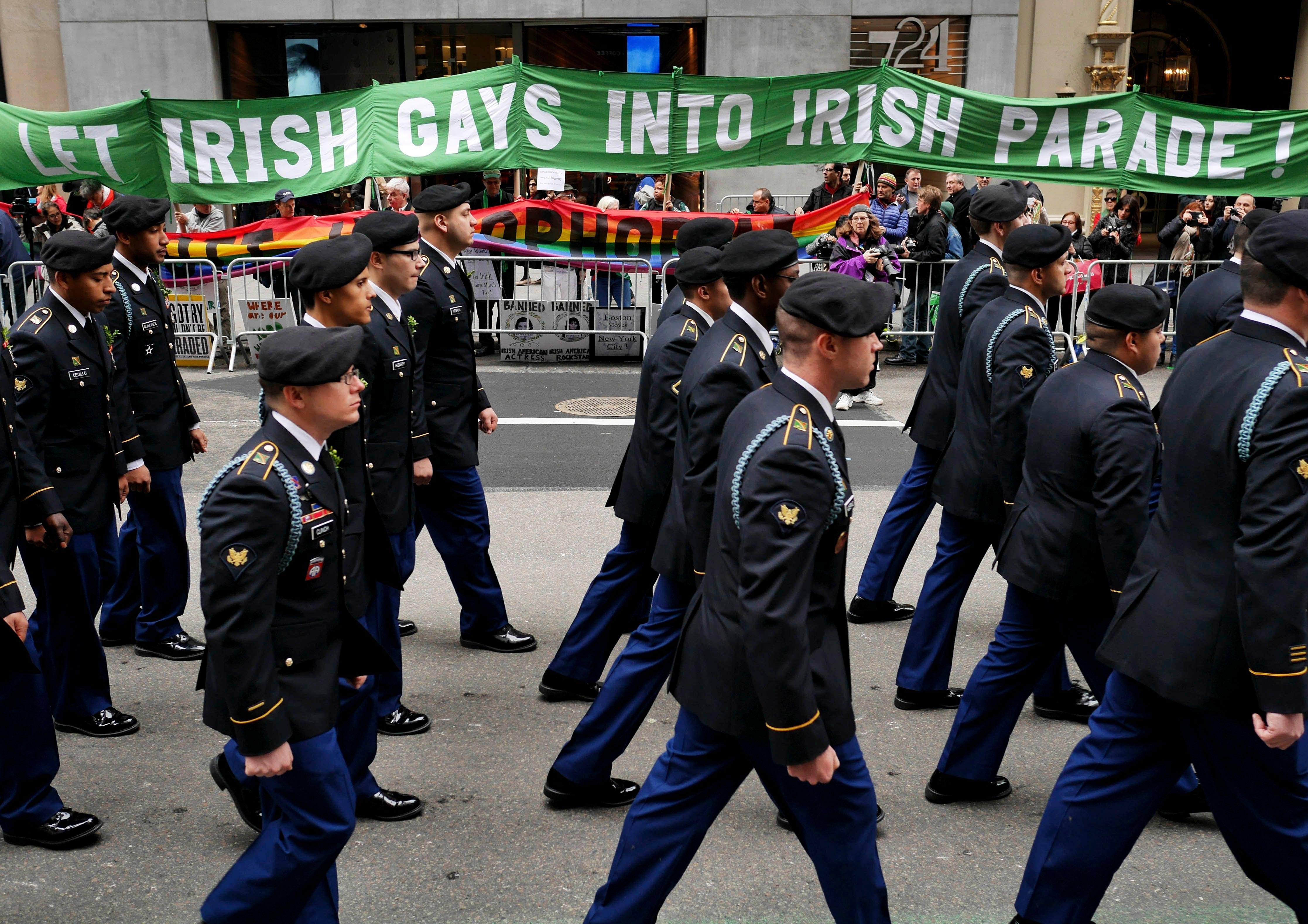 NYC St. Patrick's parade drops gay pride ban - and Ireland can see it on TV