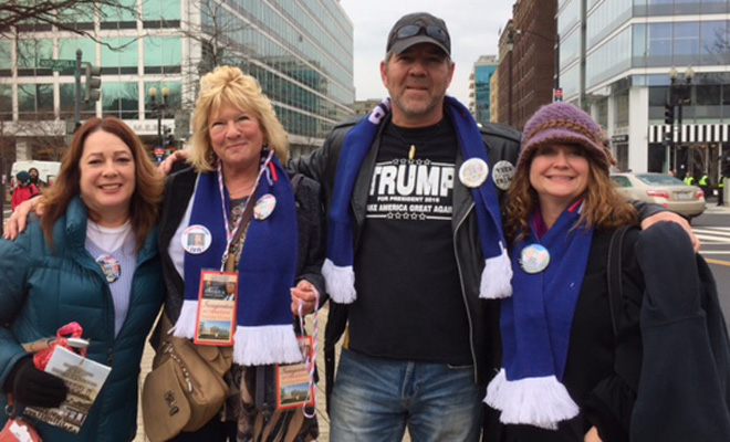 Trump supporters from across country cheer 'outsider' taking charge