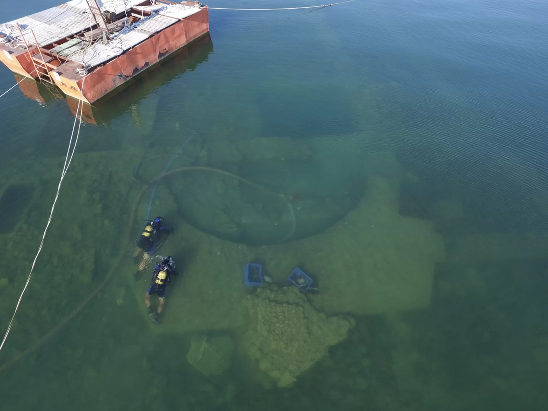 Ancient church hidden in Turkish lake and a Pagan temple may lie beneath it