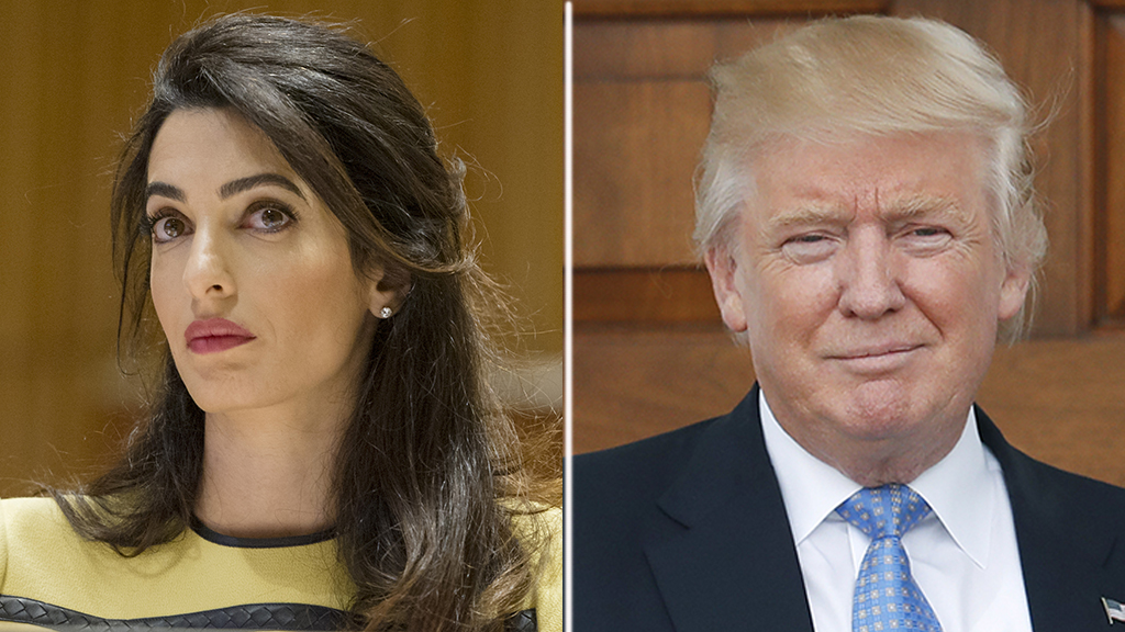 Amal Clooney slams Donald Trump at United Nations Correspondents Association Awards