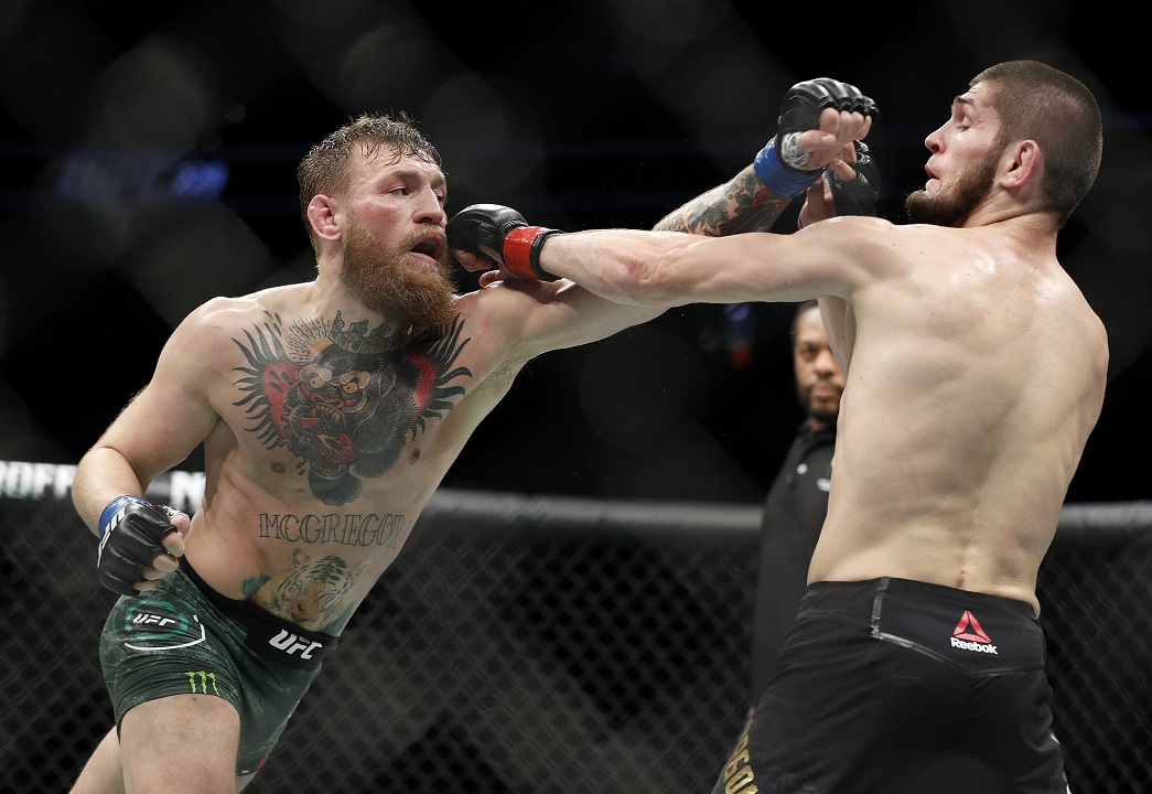 UFC melee: Nurmagomedov beats McGregor -- then all hell breaks loose