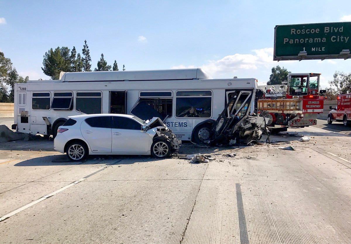 California bus crash leaves approximately 40 people hurt