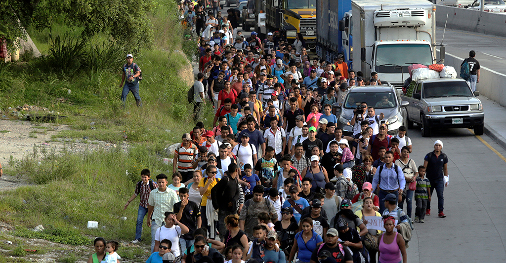 Trump threatens to call US military to close southern border as 4,000-strong migrant caravan pushes north