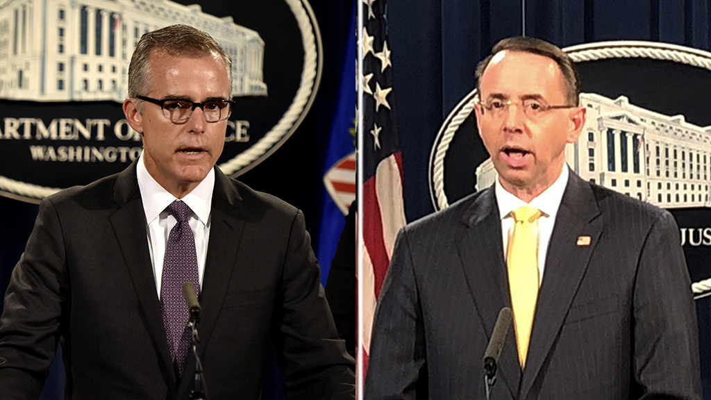 Rosenstein, McCabe squabbled in front of Mueller over Russia probe recusals