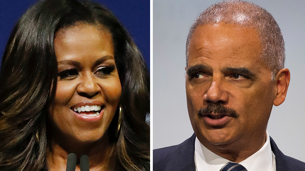 Michelle Obama rebukes Holder, Clinton over calls for political warfare