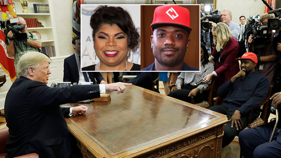 CNN's April Ryan asks Ray J for comment on Kanye West's White House meeting