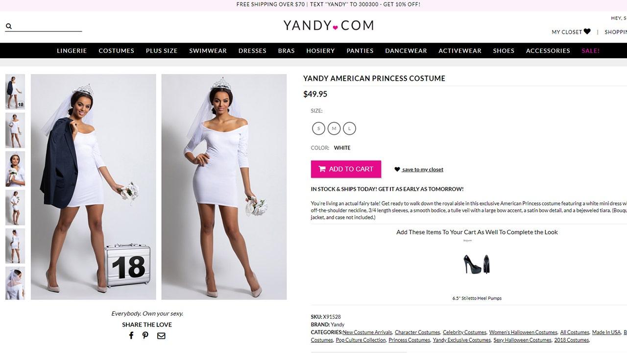 Yandy creates sexy Meghan Markle-inspired wedding costume
