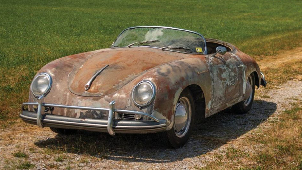Rusty 1958 Porsche 356 stored for 35 years worth small fortune