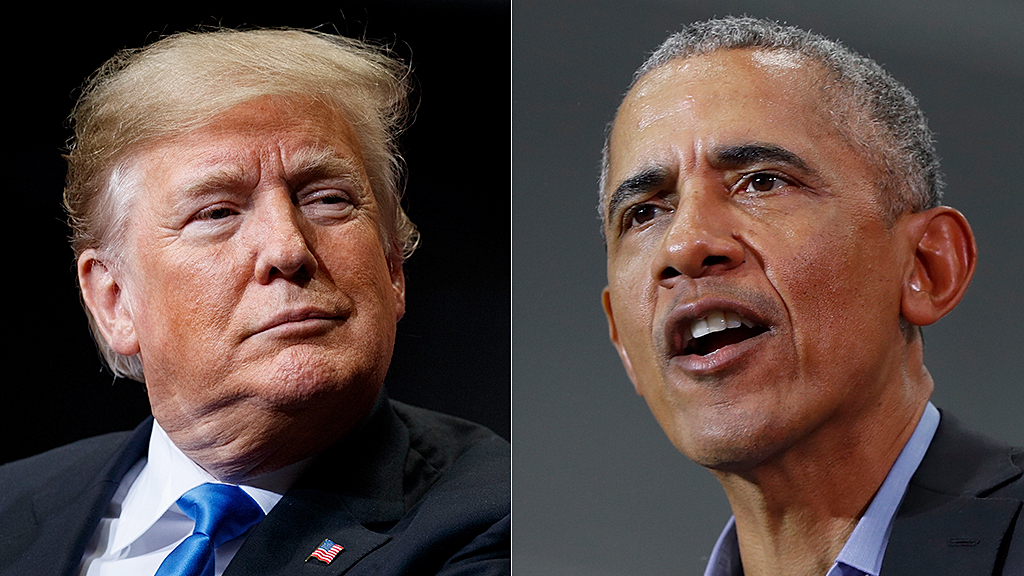 Obama appears to swipe at Trump during Mandela event