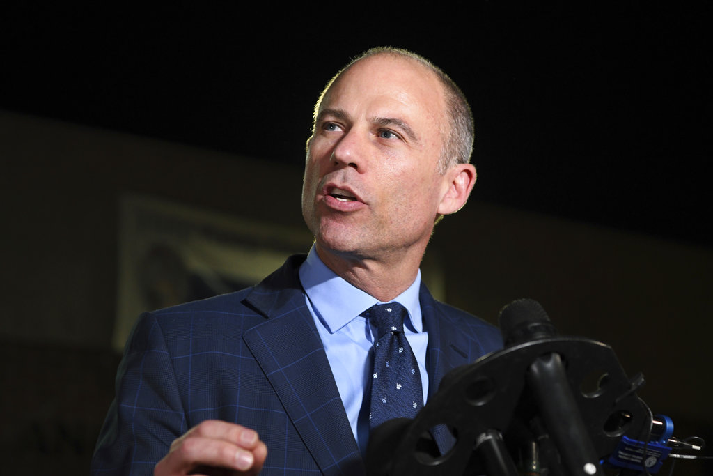 Actress files restraining order against Avenatti, court records show