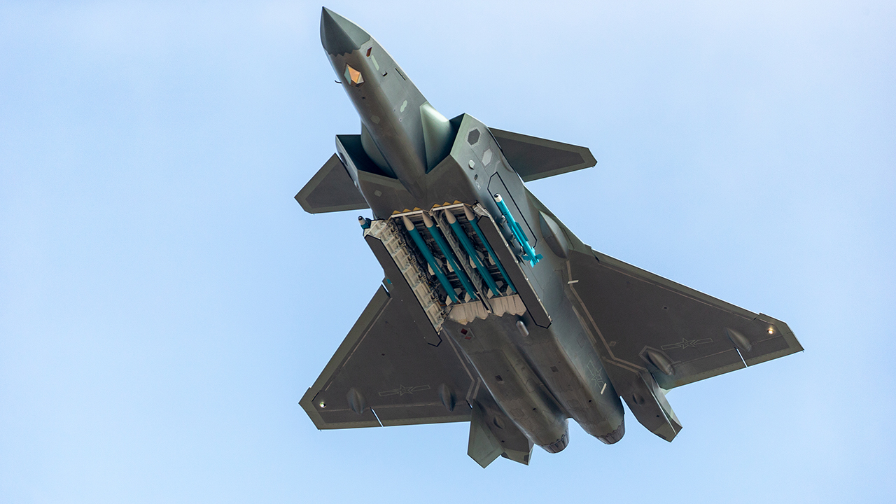 China's stealth fighter jets feature missiles during airshow show of force thumbnail