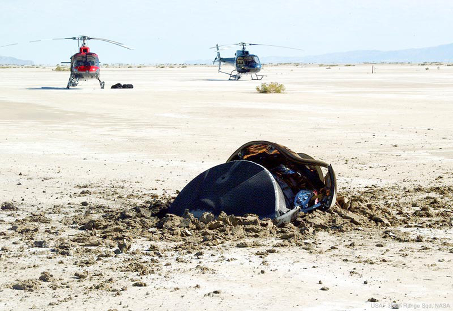 NASA posts photo of crashed 'flying saucer from outer space'