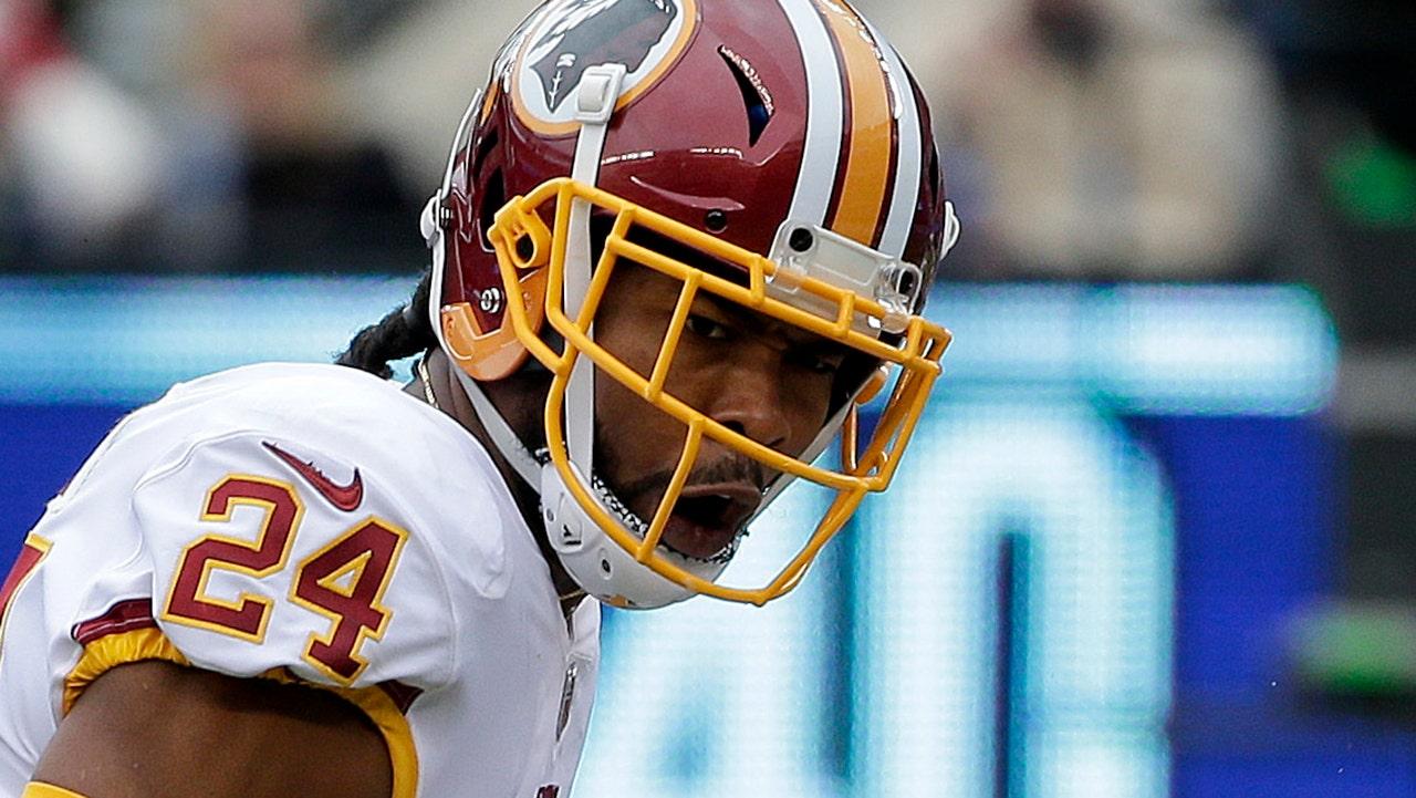 Washington Redskins' Josh Norman Adressen Bankdrücken zum ersten mal: