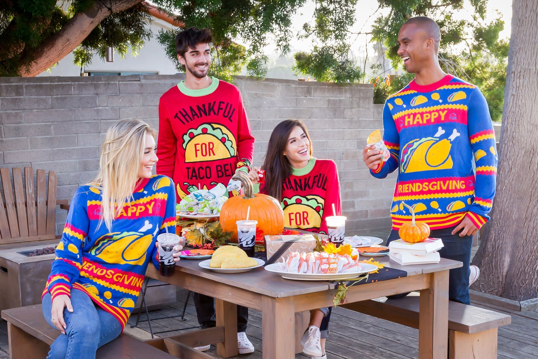 Taco Bell offering holiday sweaters, Thanksgiving recipe