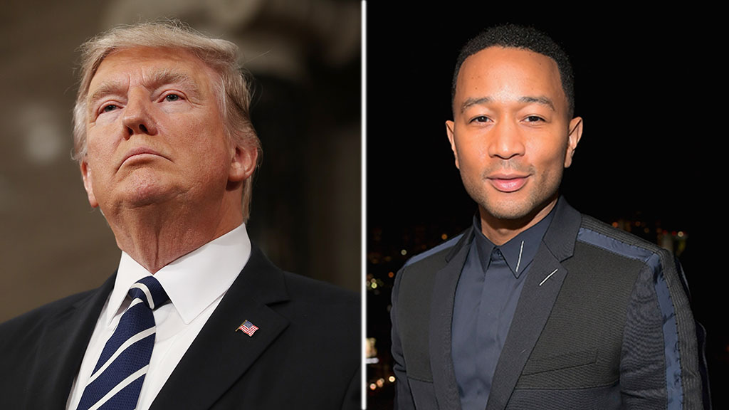 John Legend rips Trump, calls him a 'f------ embarrassment' on Twitter