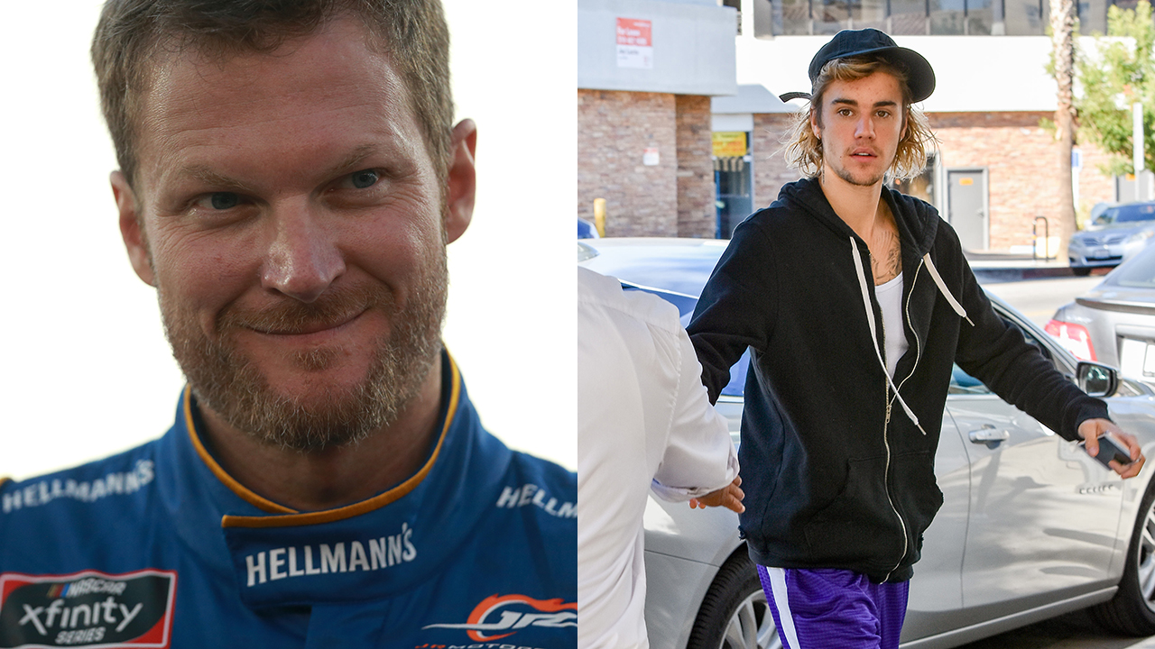 Dale Earnhardt Jr. thinks Justin Bieber looks like a 'badass' in his dad's shirt