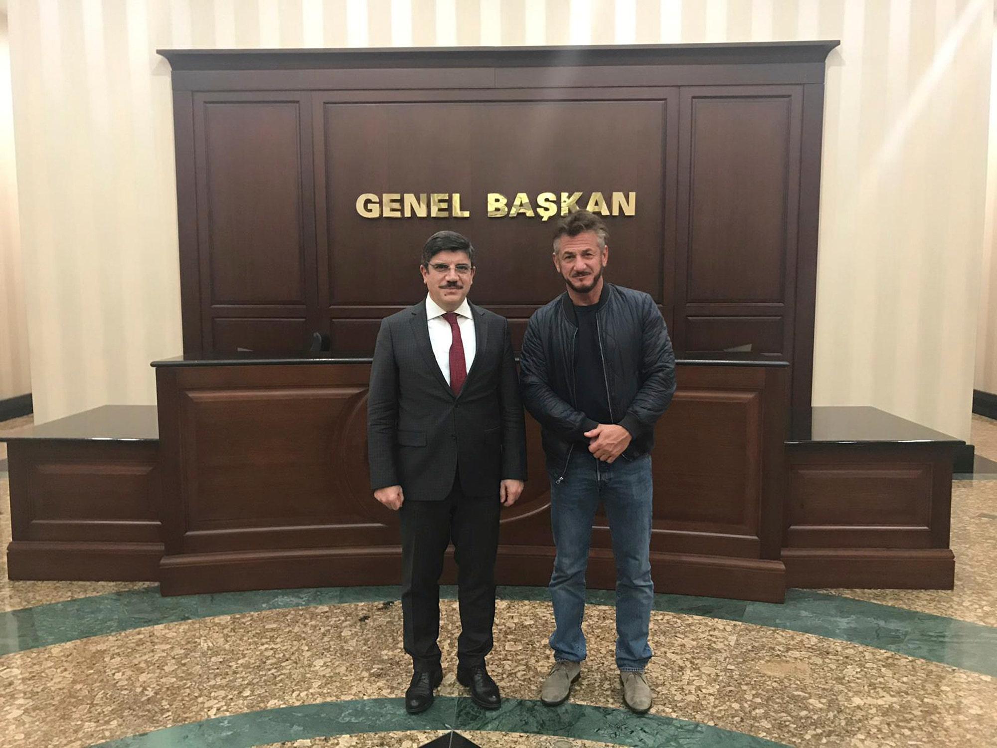 Sean Penn in Turkey working on a documentary about the death of Jamal Khashoggi