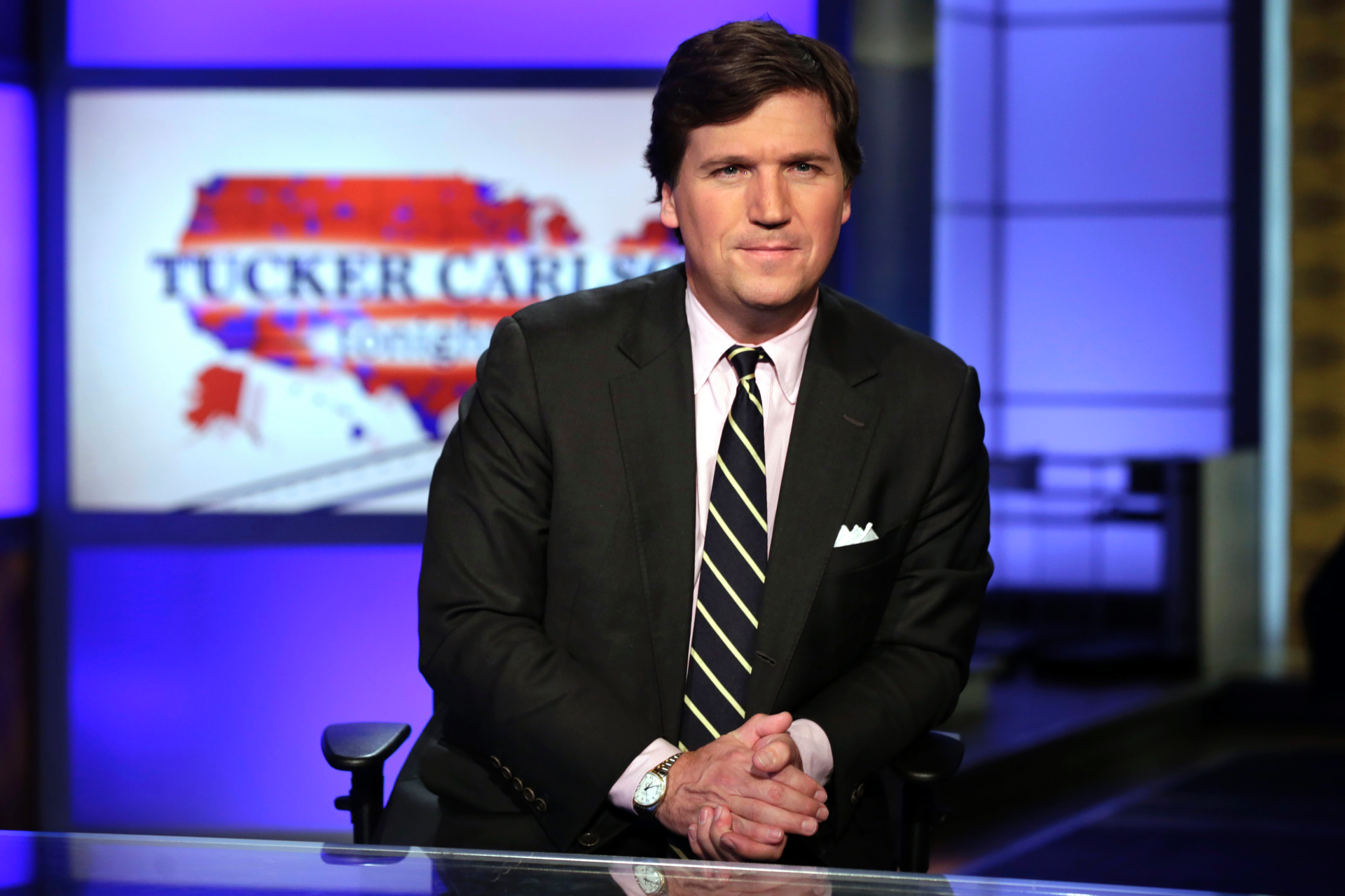 Tucker Carlson, under fire for past radio comments, blames the Left